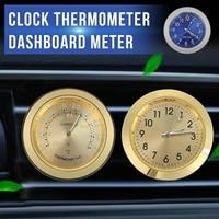 KROAK Auto Elektronische Klok Conditioner Luchtuitlaat Thermometer Dashboard Hygrometer Meter Aromatherapie Auto Lichtgevende Quartz Klok op