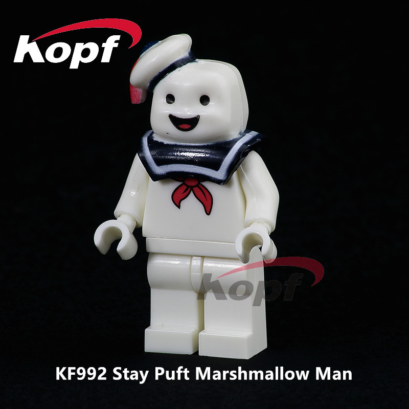 Single Sale Super Heroes Stay Puft Marstmallow Man Dolls Bricks Action Building Blocks Best Education Toys For Children KF992