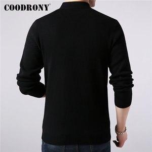 Image 3 - Coodrony casaco masculino de marca, roupas masculinas, outono inverno, grosso, com zíper, casacos de lã de caxemira 2019
