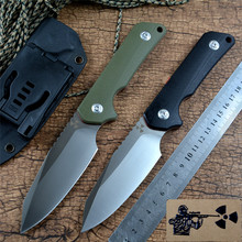 Jungle Edge JR3019 Fixed Knife D2 Blade G10 Handle with Kydex Sheath for Outdoor Camping Hunting Tactical Knife EDC Tools
