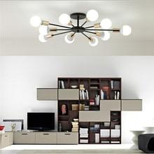 85-265V E27 Chander luces Vintag arañas led Edison Industrial 6 8 10 Luces lámpara de araña blanco no incluye bombilla