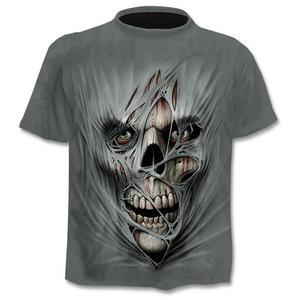 2020 new Drop ship 3D printed T-shirt men's women's tshirt punk style top tees skull t shirt gothic tshirt asian size 6XL gym