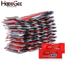 HoozGee I Loves Condoms Fruit Flavor Extra Safe Super-lubrication Latex Condom for Men Sex Toy Products 1/10/100Pcs/Lot(China)
