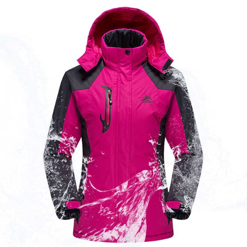 Ski Cocok untuk Wanita Outdoor Tahan Air Windproof Snowboard Ski Jaket Celana Musim Dingin Ski Salju Bulu Jaket Wanita Ski Suit