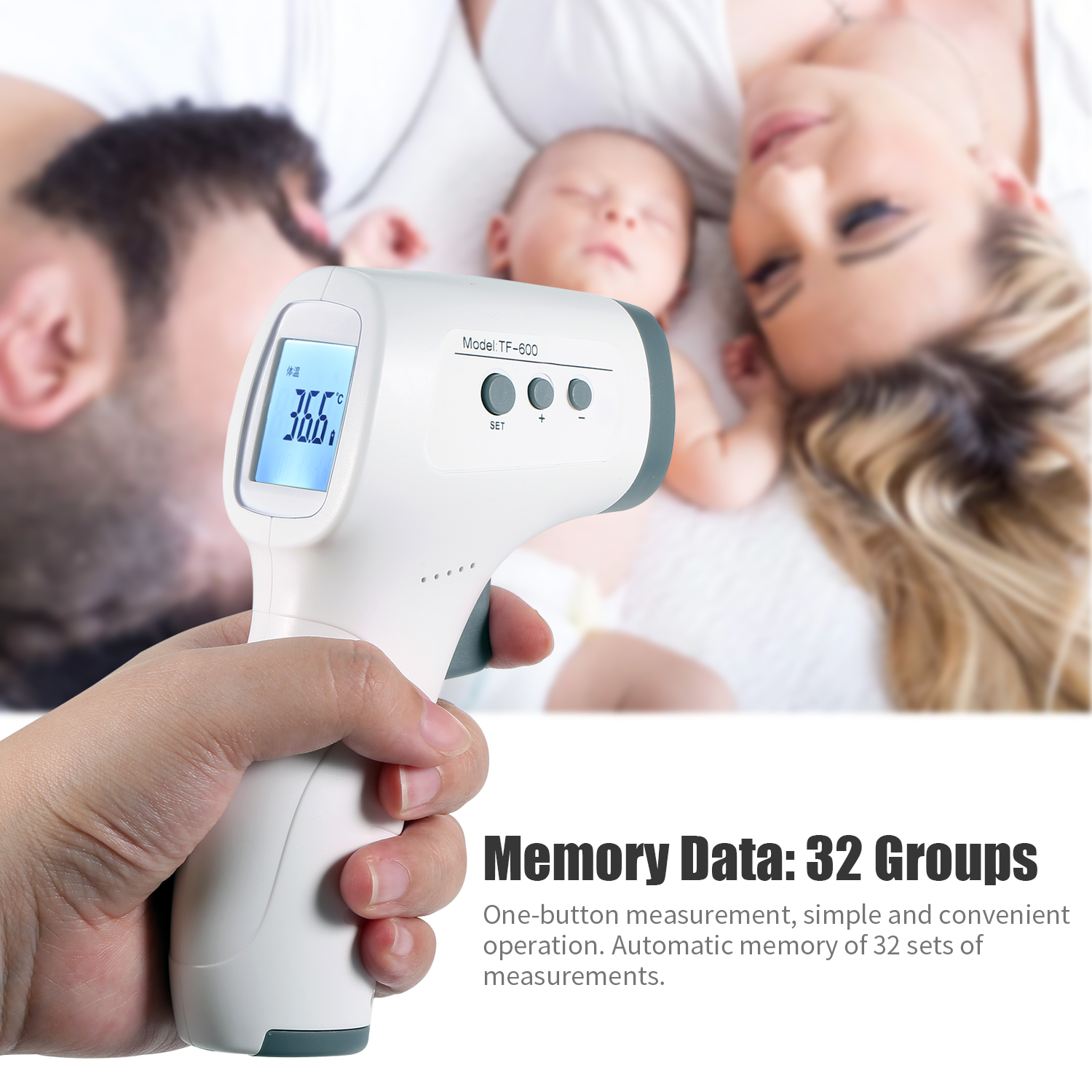 Thermometer Forehead Thermometer Infrared Thermometer Body Temperature Gun Fever Digital Thermometer Hygrometer For Baby Adult