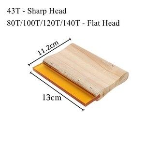 Image 5 - 4 шт. набор трафаретной печати 43/120T алюминиевая рама из шелкографической сетки + зажим для петель + Эмульсия Совок + скребок набор деталей для инструментов