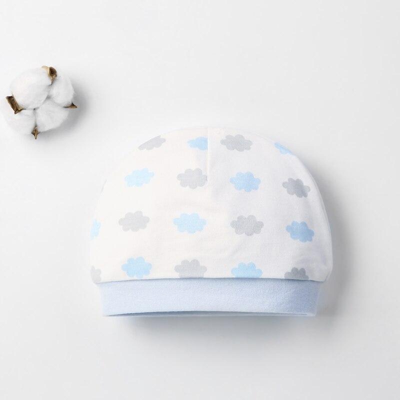 Детская шапка для 0-12 месяцев, хлопок, унисекс, мягкая милая детская шапка, шапка для новорожденных мальчиков и девочек на все сезоны, Мультяшные Шапки для малышей - Цвет: Серый