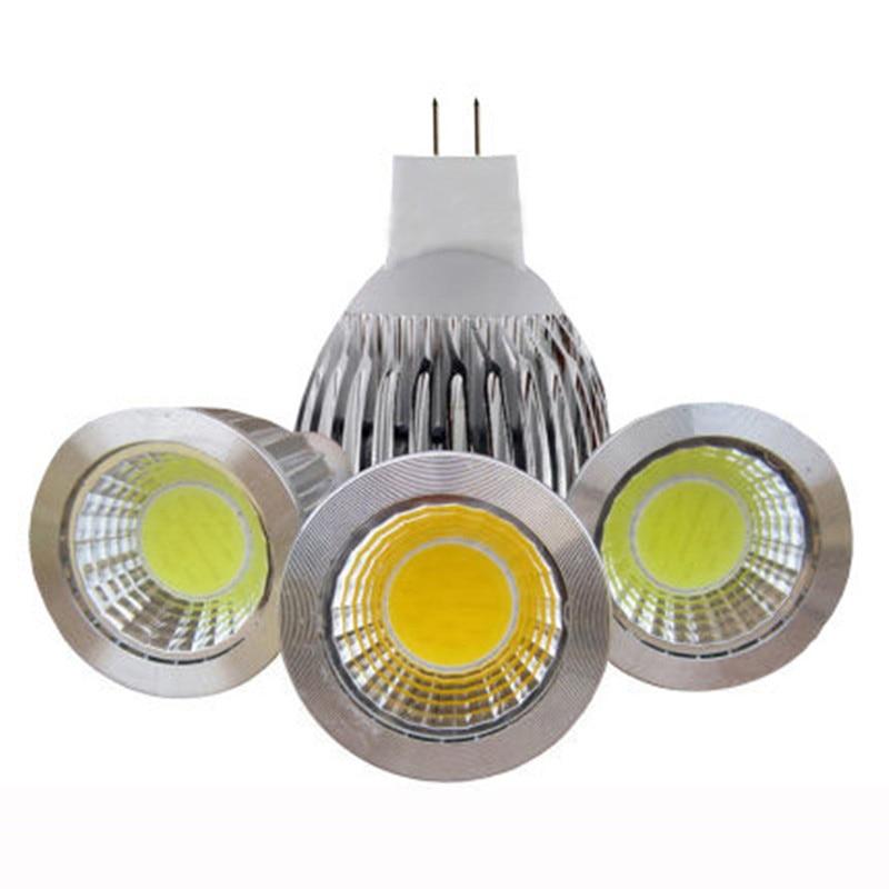 Nieuwe High Power Lampada Led MR16 COB 9 W 12 W 15 W Led Cob Spotlight Cool White MR 16 12 V GU5.3 /110V/ 220V