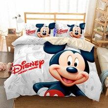 Pillowcase Bedding-Set Duvet-Cover Mickey-Minnie Luxury Disney Bedroom-Decoration Cartoon