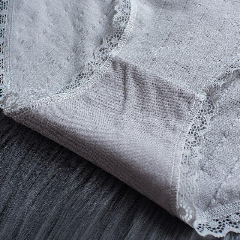 H7497a091f21447b5890e5b01133187d1z Bragas de algodón a rayas bragas a media cintura ropa interior Sexy encaje de mujer Lencería ropa interior transpirable Antibacterial íntimos femeninos