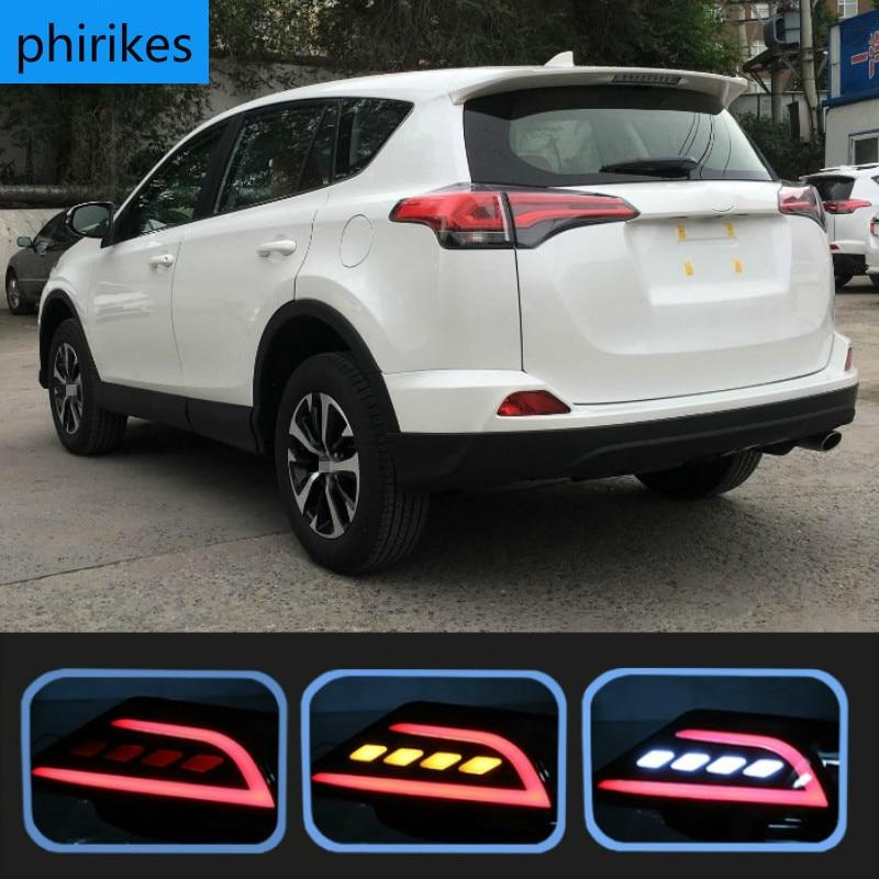 Für Toyota RAV4 RAV 4 2016 - 2018 Multi-funktionen LED Hinten Bumper Licht Nebel Lampe Bremse Licht Dynamische blinker Reverse Licht