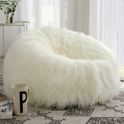 100cm Fluffy Wool Fur Bean Bag Cover