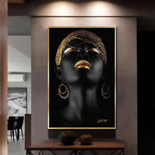 Modern Art Canvas Painting African Black Nude Woman Posters and Prints Scandinavian Wall Art Pictures For Living Room Home Decor(China)