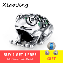 925 Sterling Silver Beads Green Frog pandora Charms Fit original pandora charm bracelet DIY Bead Jewelry Making for women gift цена 2017