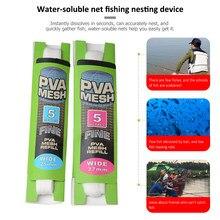 Venda quente 5m rede solúvel de malha pesca da carpa equipamento pesca acessórios 25/37mm pva malha recarga isca de cabelo alimentador rig gancho