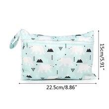 Handbag Diaper-Bag Nappy Stroller Baby Storage-Pocket Carry-Pack Printed Zipper Wet Dry