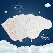 طفل قماش للف الرضع كيس النوم الفراش مجموعات حفاضات تغيير كيس النوم زهرة طباعة الطفل بطانية Discharge إلى الوليد