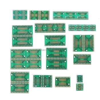 35 sztuk 7 wartość * 5 sztuk płytka drukowana zestaw SMD przejdź do DIP spo MSOP SSOP TSSOP SOT23 8 10 14 16 20 24 28 SMT do DIP Whosale i Dropship tanie i dobre opinie CN (pochodzenie)