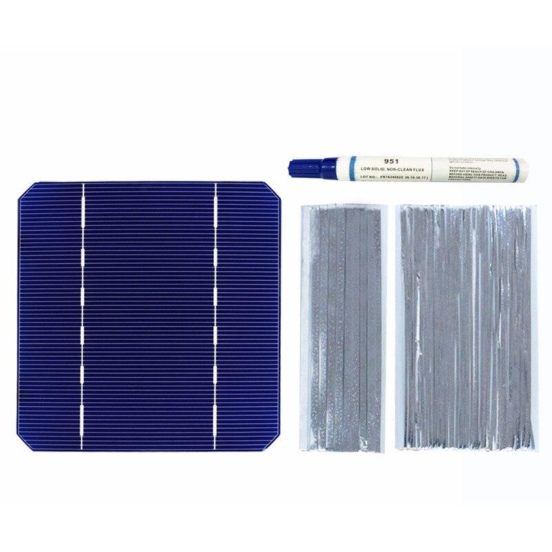 40 PCS 2,8 W Solarzelle 125*125mm Mono Hohe Effizienz DIY PV Photovoltaik 100W Solar Draht streifen Flux Pen Solar Ladegerät Solder-in Solarzellen aus Verbraucherelektronik bei  Gruppe 1