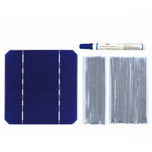 40 PCS 2.8W Solar Cell 125*125mm Mono High Efficiency DIY PV Photovoltaic 100W Wire Strip Flux Pen Charger Solder