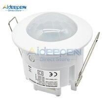 AC 110V-240V 50Hz 360 Grad Mini Einbau Decke PIR Infrarot Körper Motion Sensor Detektor Schalter für LED Lampe Automatische AUF/OFF