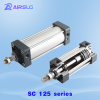 SC SC125 Standard cylinder Air Cylinders magnet  25*50×75 100 125 150 175 200 250 300 S Stroke Double Acting Pneumatic Cylinder