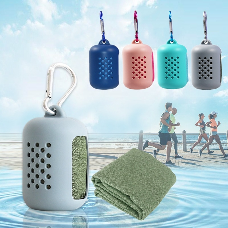 1PCs Quick Drying Towel Silica Gel Microfiber Ice Pack Traveling Outdoor Portable Gym Cold Sensation Sports Swimming Towels