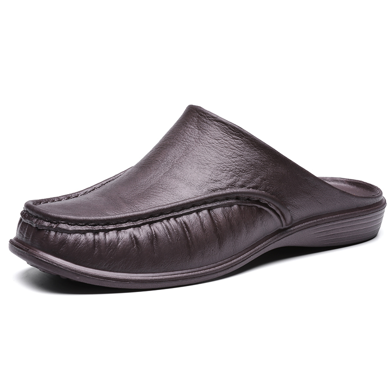 Fairy more hommes EVA chaussures sans lacet chaussures de marche décontractées hommes demi pantoufles confortables doux pantoufles pneu40-47