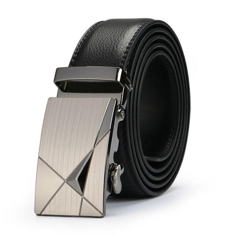 Hot Selling Men Belt Fashion Pu Alloy Automatic Buckle Business Affairs Casual Decoration Belt Men's Belts 3.5cm Luxury Belt