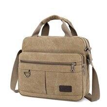Bolsas de mensajero de hombro para hombre y mujer, bolso de viaje de lona, de moda, de negocios, Vintage