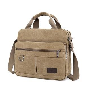 Image 1 - Men Shoulder Messenger Bags For Men Canvas Travel Bag Fashion Handbag high Quality Business Vintage Bag For Women