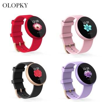 B36 Women New Fashion Smart 12 Languages Digital Watch Female Russian Reminder Heart Rate Watches Calorie Step Beauty Wristwatch