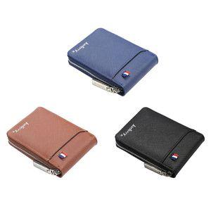 Модный держатель для карт для органов, тонкий блокирующий мужские кошельки из искусственной кожи, минималистичный кредитный кошелек для де...