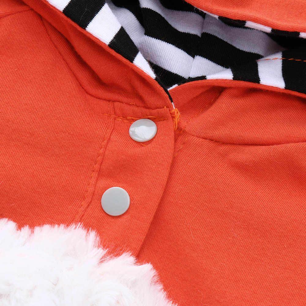 Mùa Thu Và Mùa Đông Nóng Dễ Thương Quần Áo Vụ Nổ Hoạt Hình Onesies Bé Gái 3D Hoạt Hình Cáo Mũ Trùm Quần Áo Liền Quần Phù Hợp Với Платье 40 *