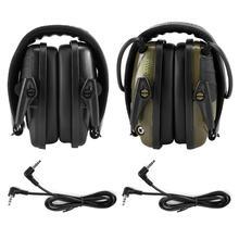 Электронная съемка наушник усиление анти-шум ударный звук Защитная гарнитура складной слуховой протектор Спорт на открытом воздухе