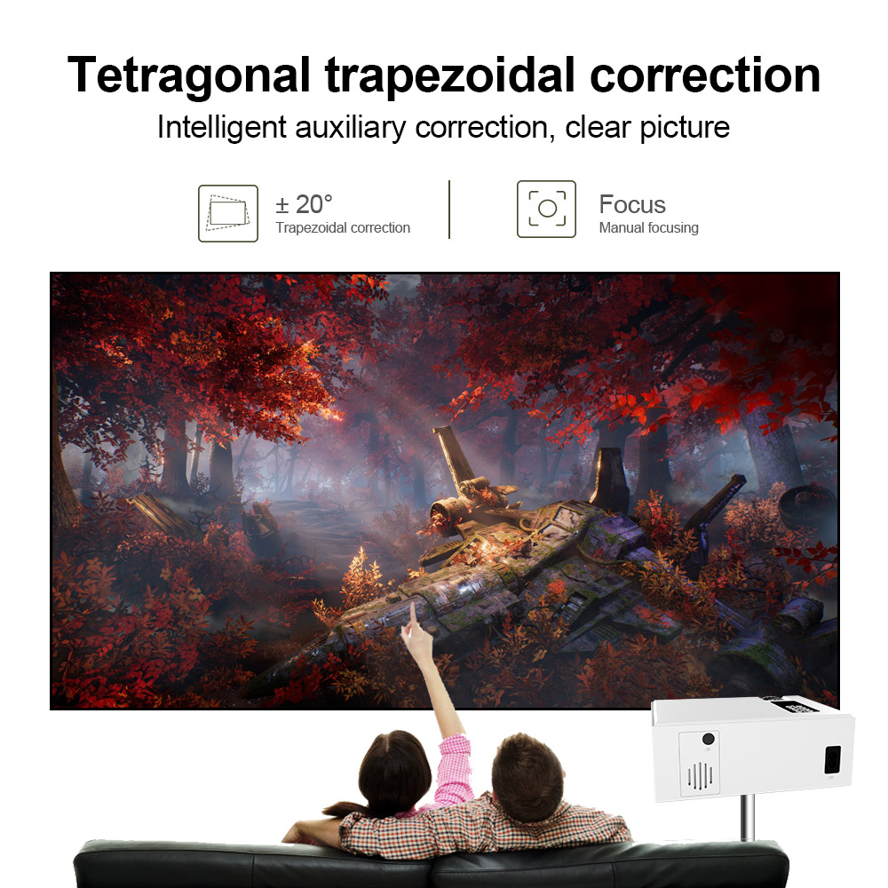 Image 4 - CRENOVA 2019 The Best Sale Android Video Projector C8 1280*720P Native Resolution With WIFI Bluetooth Home Cinema Movie Beamer-in LCD Projectors from Consumer Electronics