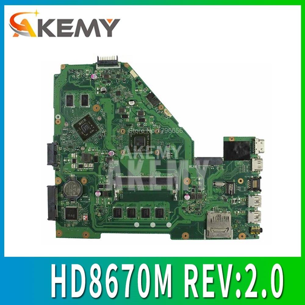 X550EP Motherboard HD8670M REV:2.0 For ASUS F552E X552E X552EP Laptop Motherboard X550EP Mainboard Test Ok A4-5100 4GB RAM