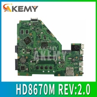X550EP Motherboard HD8670M REV:2.0 for ASUS F552E X552E X552EP laptop Motherboard X550EP Mainboard test ok A4-5100 4GB RAM