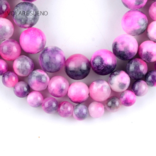Natural Fuchsia Persian Jades Stone Round Loose Beads For Jewelry Making 6-10mm Spacer Beads Fit Diy Bracelet Necklace 15'' natural fuchsia persian jades stone round loose beads for jewelry making 6 10mm spacer beads fit diy bracelet necklace 15