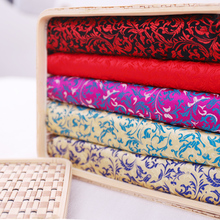 Patterned satin brocade jacquard fabrics material for girls' clothing for sewing cheongsam and kimono of DIY