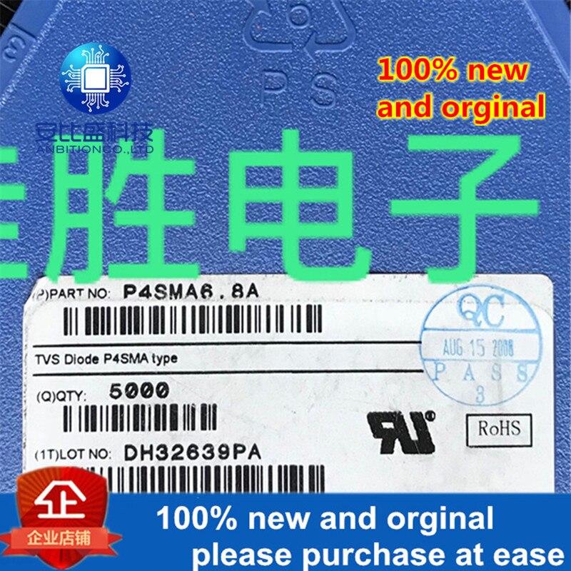 50pcs 100% New And Orginal P4SMA6.8A DO214AC Silk-screen 6V8A In Stock