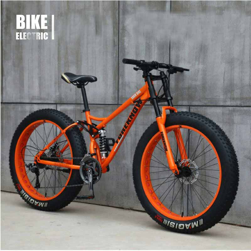 Cross-Country Beach Snowmobile Adult Super Wide 4.0 Large Tire 24 Inch  Variable Speed Mountain Bike