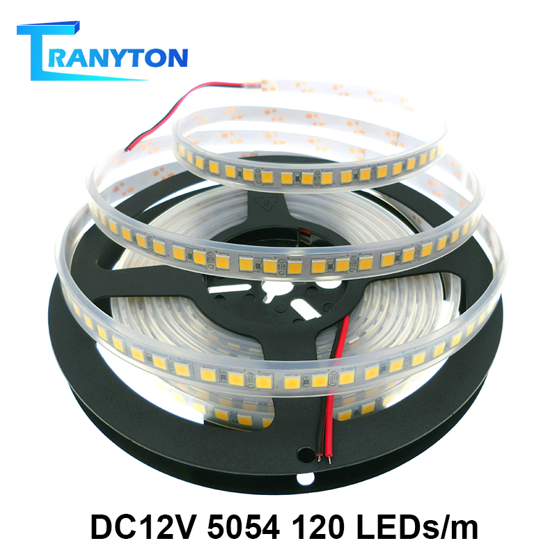 5054 LED Strip Light 120LEDs/M No Waterproof DC12V 5M Ribbon Tape Brighter Than 5050 Warm White/Cold White/Red/Blue/Green