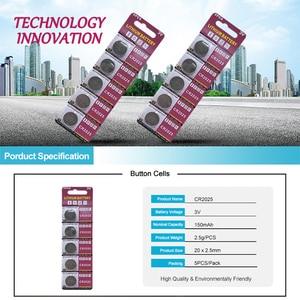 Image 3 - PUJIMAX CR2025 5 pz/pacco calcolatrice batteria del tasto della vigilanza DL2025 BR2025 telecomando 3V batteria a Bottone al litio usa e getta