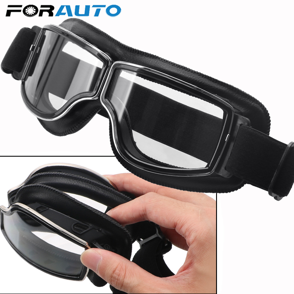 Universal Motorcycle Vintage Goggles Pilot Motorbike Scooter Biker Glasses Steampunk Goggles For Moto Helmet