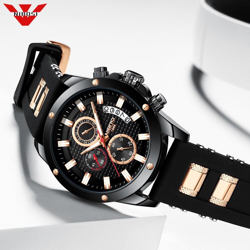 NIBOSI 2020 Top Brand Luxury Mens Watches 30m Waterproof Date Clock Male Sports Watch Men Quartz Wrist Watch Relogio Masculino