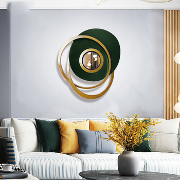 European Luxury Wrought Iron Abstract Geometric Decorative Mirror 1