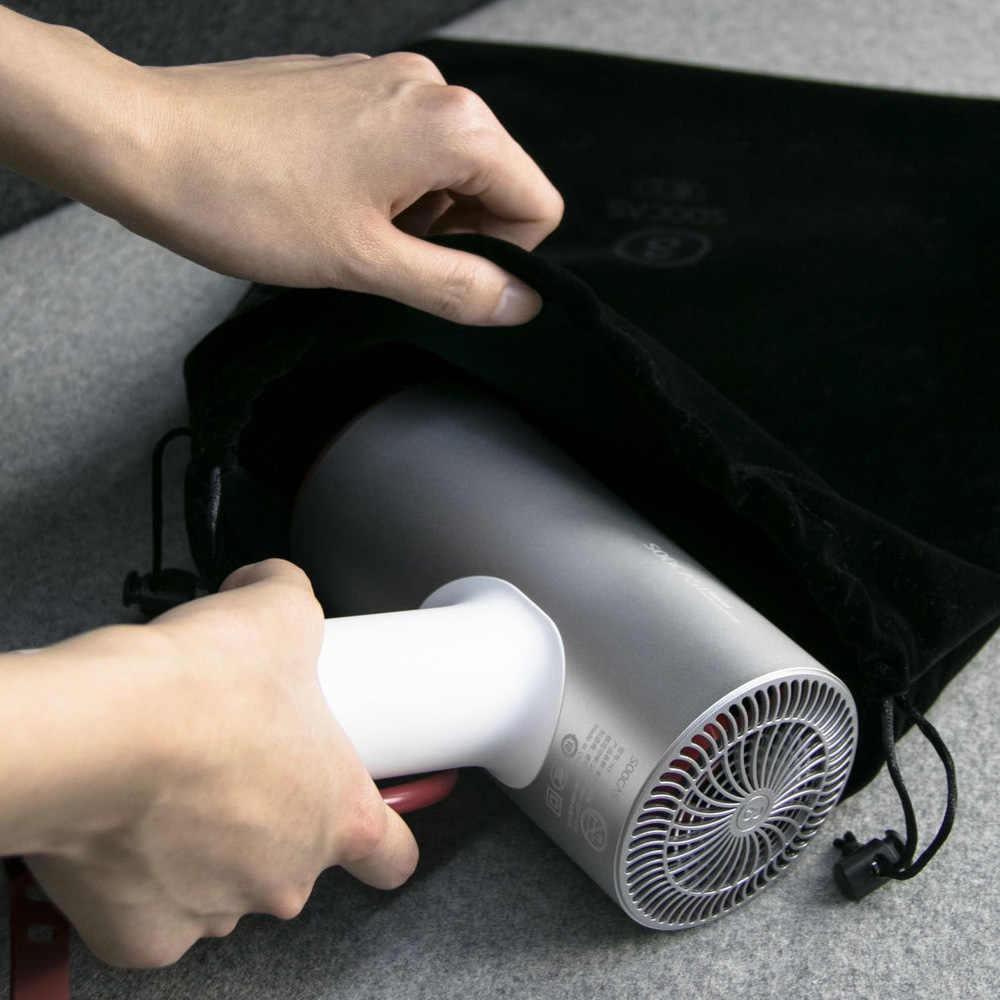 Secador de aniones de pelo Xiaomi herramientas de secado rápido 1800W Kits de hogar inteligente Mi secador con dos boquillas de flujo de aire