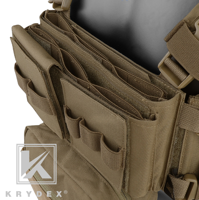 KRYDEX MK3 Modular Tactical Chest Rig Chassis Spiritus Airsoft Hunting Military Tactical Carrier Vest w/ 5.56 223 Magazine Pouch 6