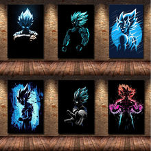 Canvas mural poster Goku anime poster boy wall art Japanese wall picture bedroom Christmas gift
